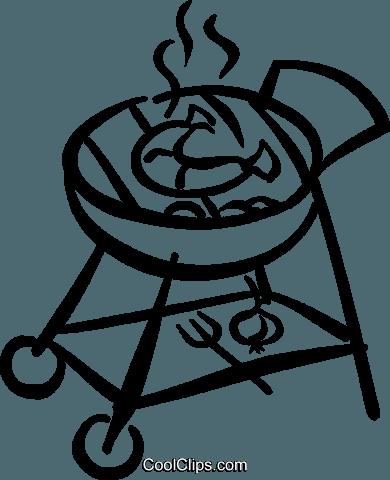 Bbq Sausage Royalty Free Vector Clip Art Illustration Vc045438
