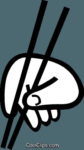 筷子 免版税矢量剪贴画插图