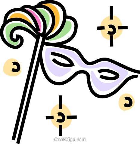 mardi gras mask Royalty Free Vector Clip Art illustration vc045704