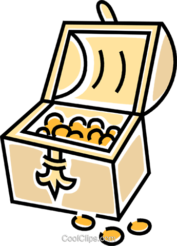 Treasure Chest Vecteurs de stock et clip-Art vectoriel vc045779