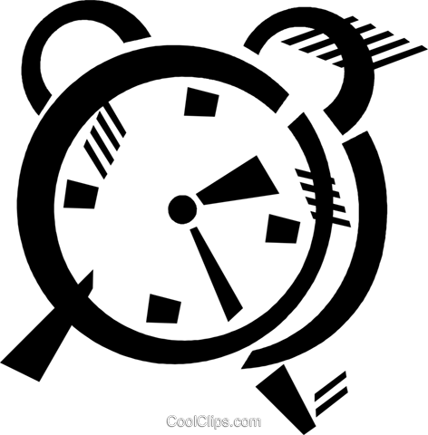 alarm clock Royalty Free Vector Clip Art illustration vc046087