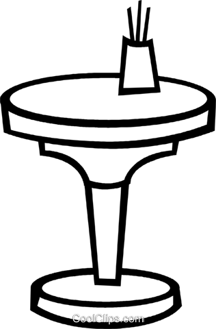 End Table Royalty Free Vector Clip Art Illustration Vc048455