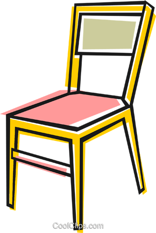 Kitchen chair Royalty Free Vector Clip Art illustration vc048517