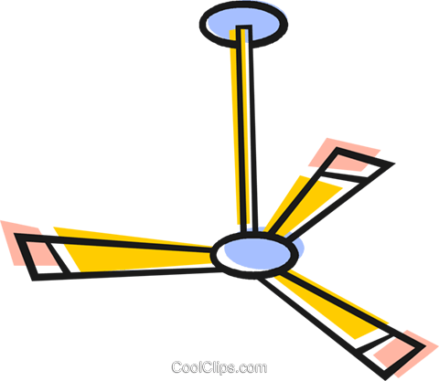 Ceiling Fan Royalty Free Vector Clip Art illustration vc048564