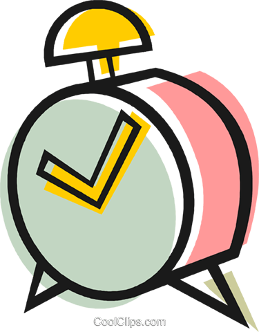 alarm clock Royalty Free Vector Clip Art illustration vc048637