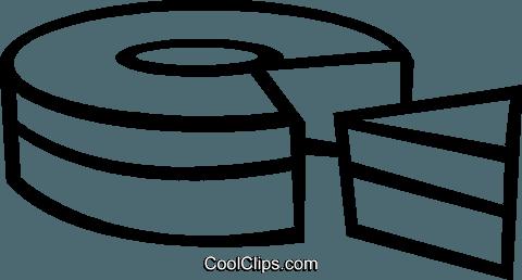 Stuck Kuchen Vektor Clipart Bild Vc048710 Coolclips Com