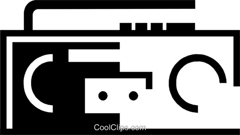 mini stereo system Royalty Free Vector Clip Art illustration vc046545