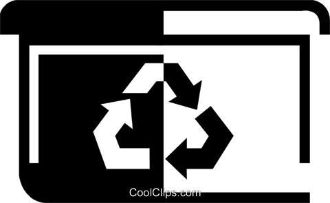 recycle box Royalty Free Vector Clip Art illustration vc046597