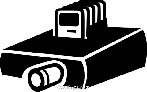 slide projector Royalty Free Vector Clip Art illustration vc047353