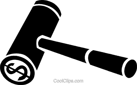 gavel Royalty Free Vector Clip Art illustration vc047375