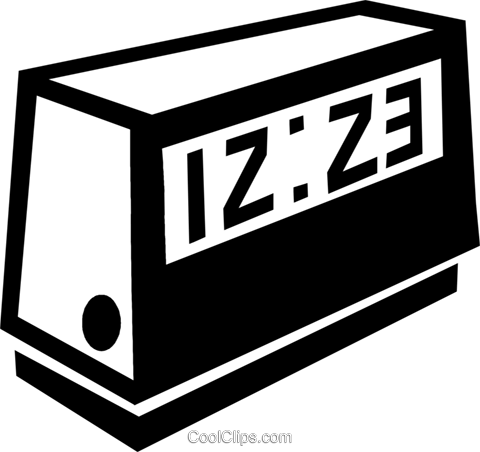 alarm clock Royalty Free Vector Clip Art illustration vc047460