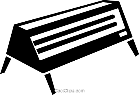electric heater Royalty Free Vector Clip Art illustration vc047561