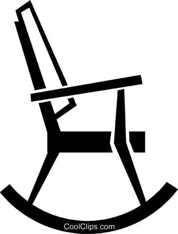 Rocking Chair Clipart rocking chair royalty free vector clip art illustration -vc047694