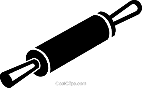 Rolling Pin Royalty Free Vector Clip Art Illustration