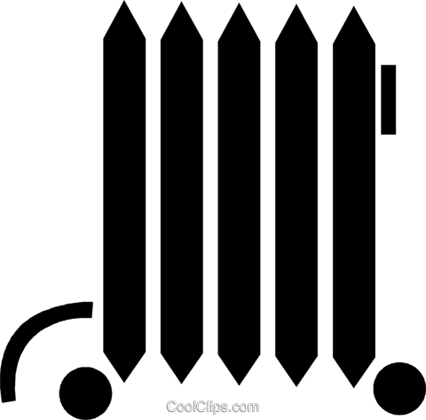 electric heater Royalty Free Vector Clip Art illustration vc047852