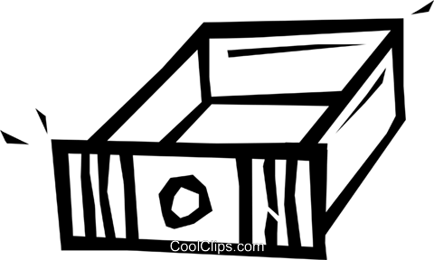drawer Royalty Free Vector Clip Art illustration vc048056