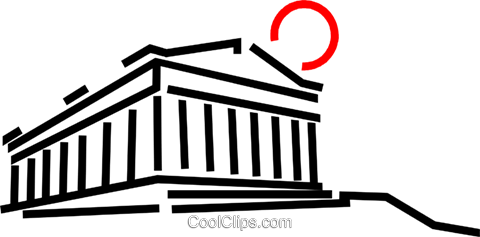Parthenon Royalty Free Vector Clip Art illustration vc048901