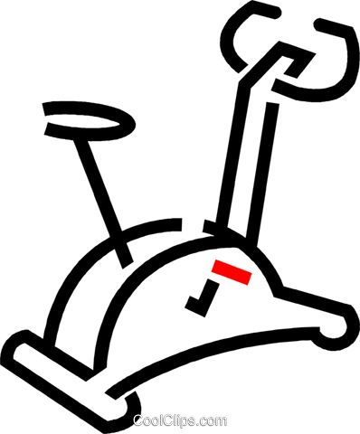Stationary Bicycle Royalty Free Vector Clip Art illustration vc049039