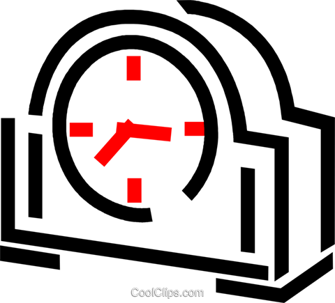 Mantle clock Royalty Free Vector Clip Art illustration vc049232