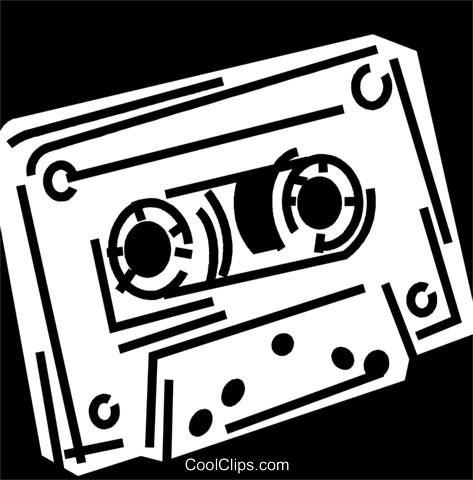 Cassette Tapes Royalty Free Vector Clip Art illustration vc049383