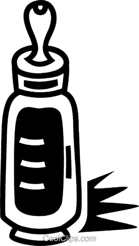 Baby Bottles Royalty Free Vector Clip Art illustration vc050796