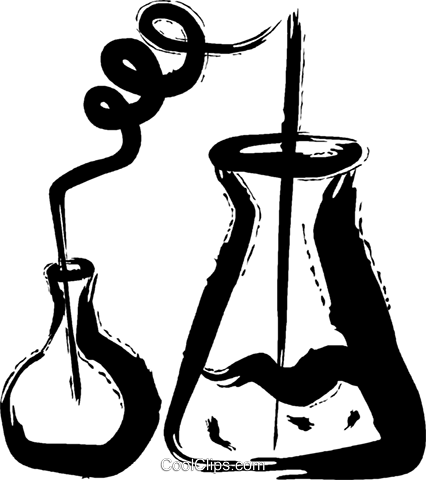 Beakers Flasks and Test Tubes Royalty Free Vector Clip Art ...