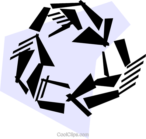 Recycling Symbols Royalty Free Vector Clip Art illustration vc051010