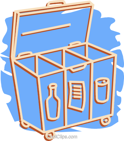 recycle box Royalty Free Vector Clip Art illustration vc052077