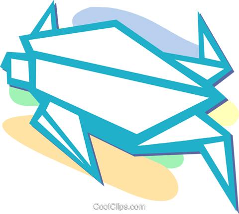 origami Royalty Free Vector Clip Art illustration vc052319