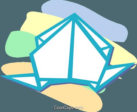 折纸 免版税矢量剪贴画插图