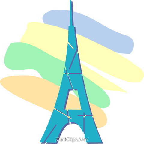 Eiffel Tower Royalty Free Vector Clip Art illustration vc052388