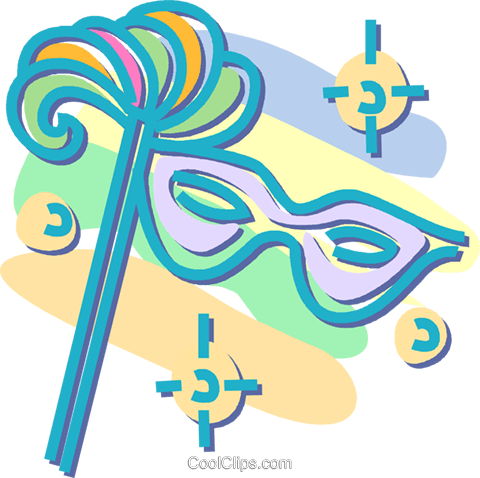 mardi gras Royalty Free Vector Clip Art illustration vc052535
