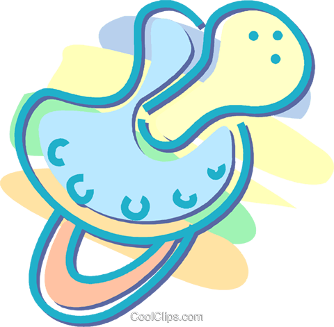 pacifier Royalty Free Vector Clip Art illustration vc052555