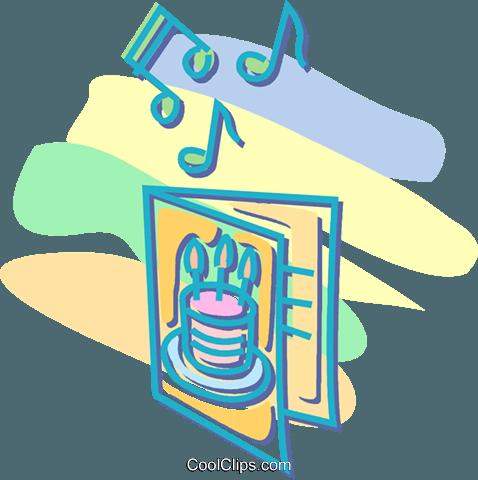 Singen Geburtstagskarte Vektor Clipart Bild  vc052573 CoolCLIPS.com