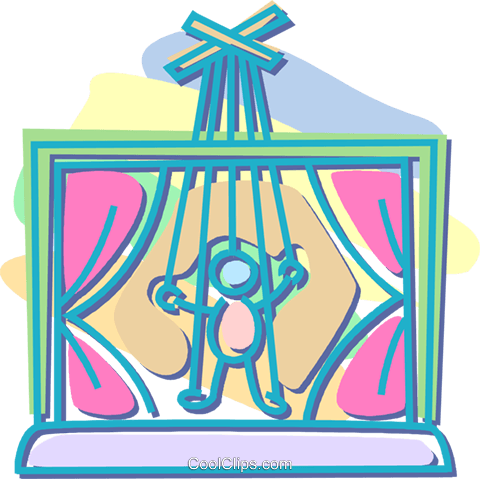puppet show Royalty Free Vector Clip Art illustration vc052581