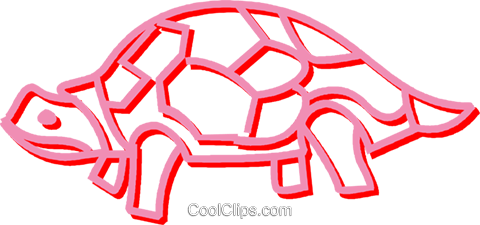 turtle Royalty Free Vector Clip Art illustration vc052971