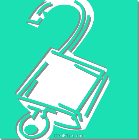 padlock Royalty Free Vector Clip Art illustration vc053064