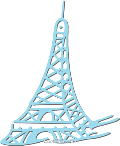 Eiffel Tower Royalty Free Vector Clip Art illustration vc053225
