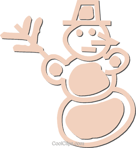 snowman Royalty Free Vector Clip Art illustration vc053406