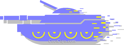 tank Royalty Free Vector Clip Art illustration vc053522