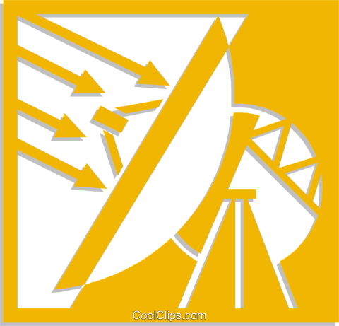satellite dish Royalty Free Vector Clip Art illustration vc053741