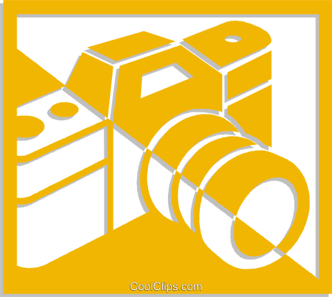 camera Royalty Free Vector Clip Art illustration vc053743