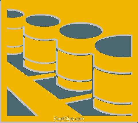 石油桶 免版税矢量剪贴画插图