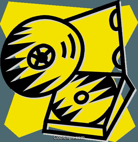光盘 免版税矢量剪贴画插图