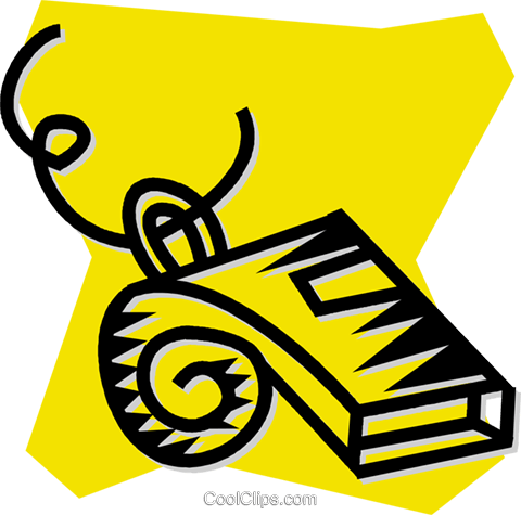 sports whistle Royalty Free Vector Clip Art illustration vc053992