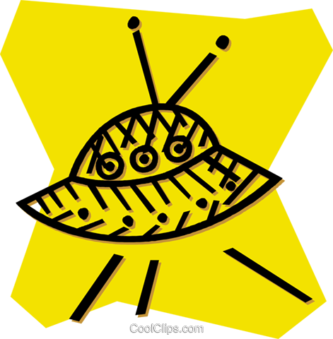 ufo Royalty Free Vector Clip Art illustration vc054008