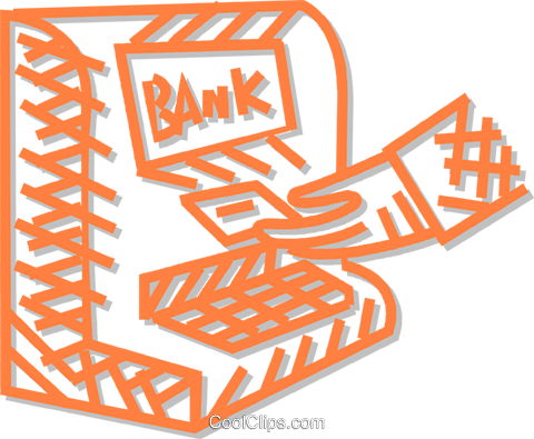 bank machine Royalty Free Vector Clip Art illustration vc054824