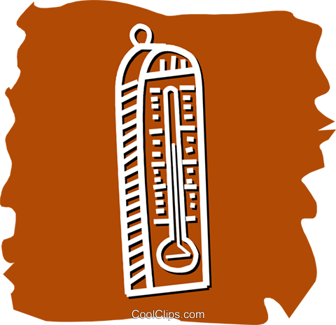 Thermometers Royalty Free Vector Clip Art illustration vc055208