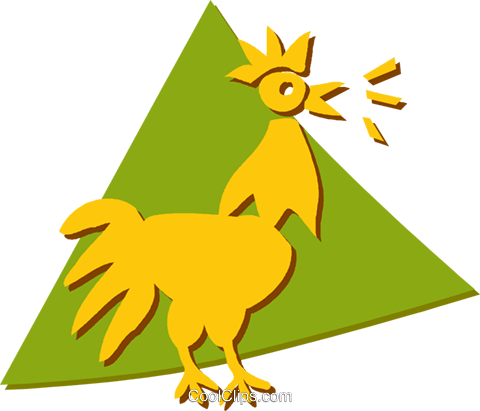 Roosters Royalty Free Vector Clip Art illustration vc055626