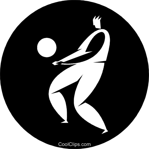 volleyball player Royalty Free Vector Clip Art illustration vc055672